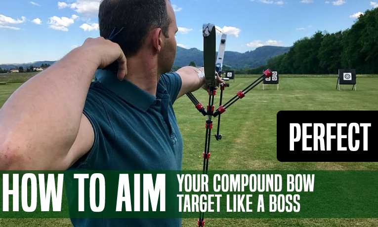 how to aim compound bow